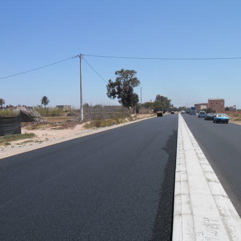 Travaux de dédoublement de la route Nationale Province de Chtouka Ait Baha